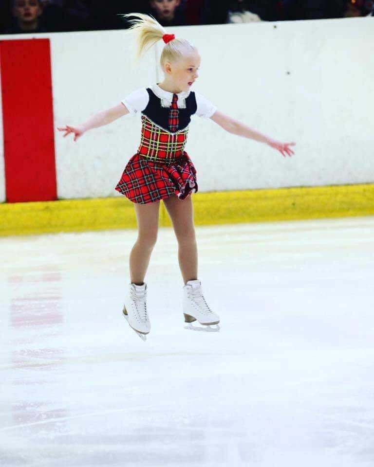 Romy Davies-Jeans in another national figure skating competition