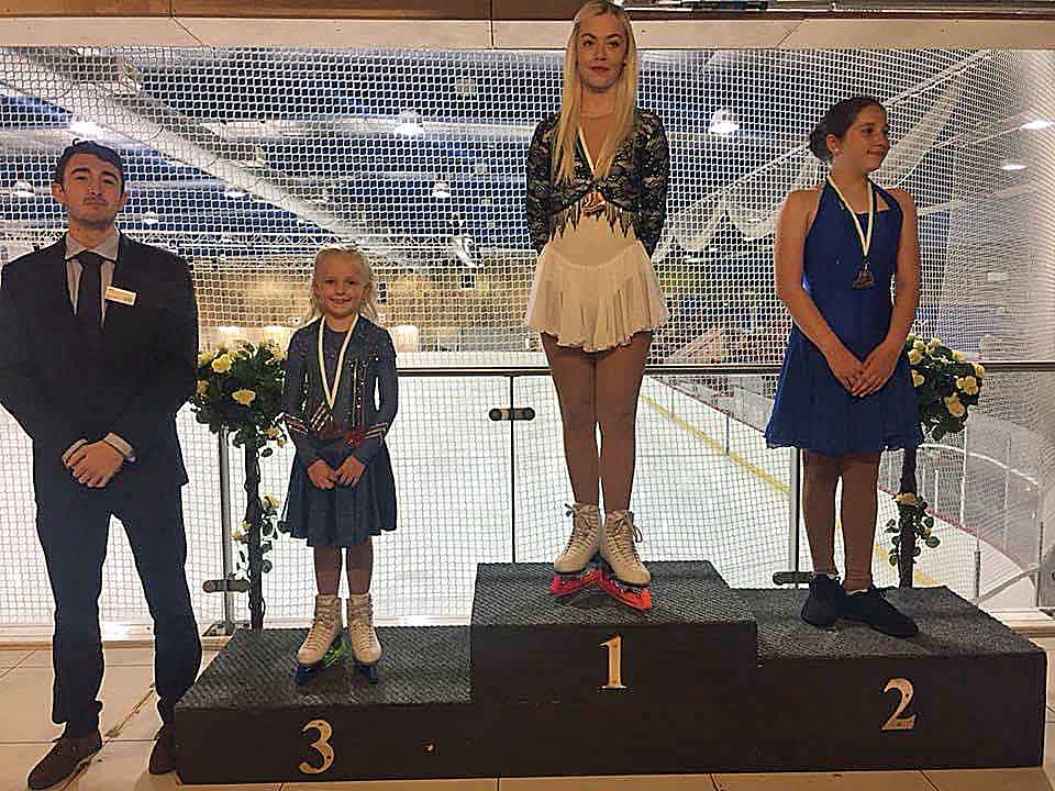 Romy positioned 3rd, the youngest on the podium in medal presentations