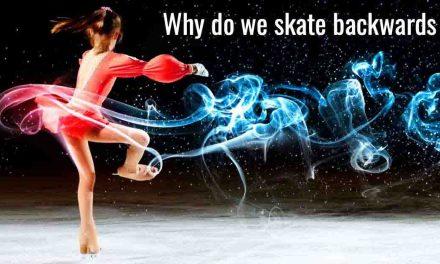 why do figure skaters skate backwards?