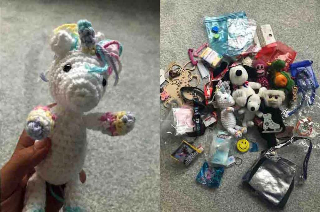 a collection of a figure skaters soft toys and teddy bears