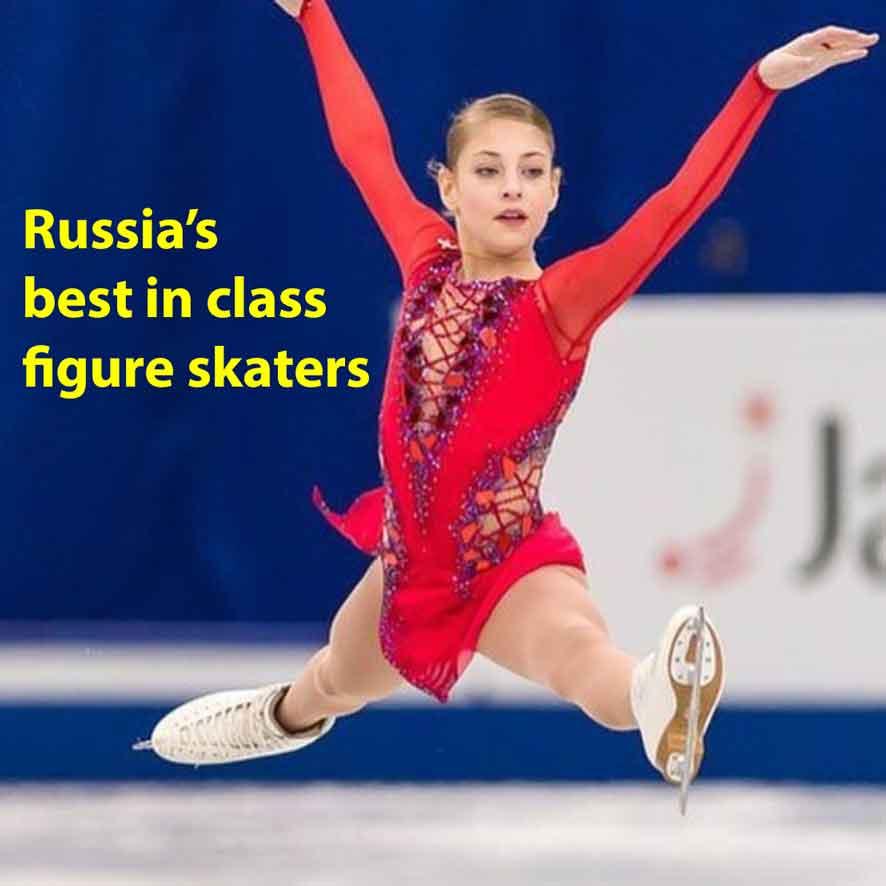 Russia's crop of the best figure skaters, Alena Kostornaya